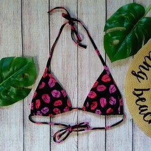 Victoria's Secret lip print triangle bikini top S